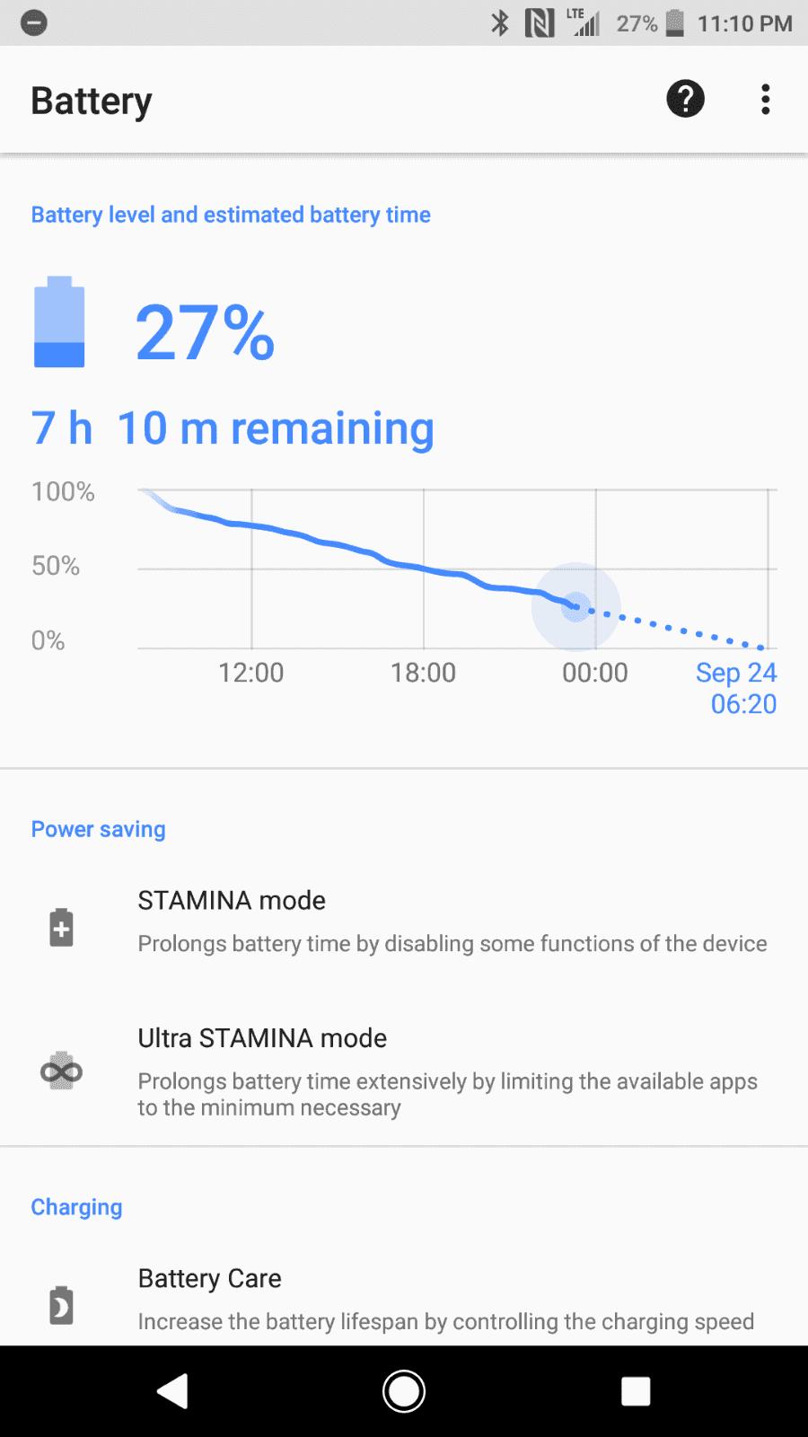 Sony Xperia XZ1 AH NS Screenshots battery 3