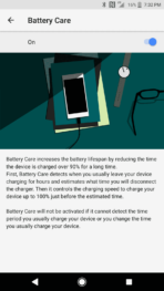 Sony Xperia XZ1 AH NS Screenshots battery care
