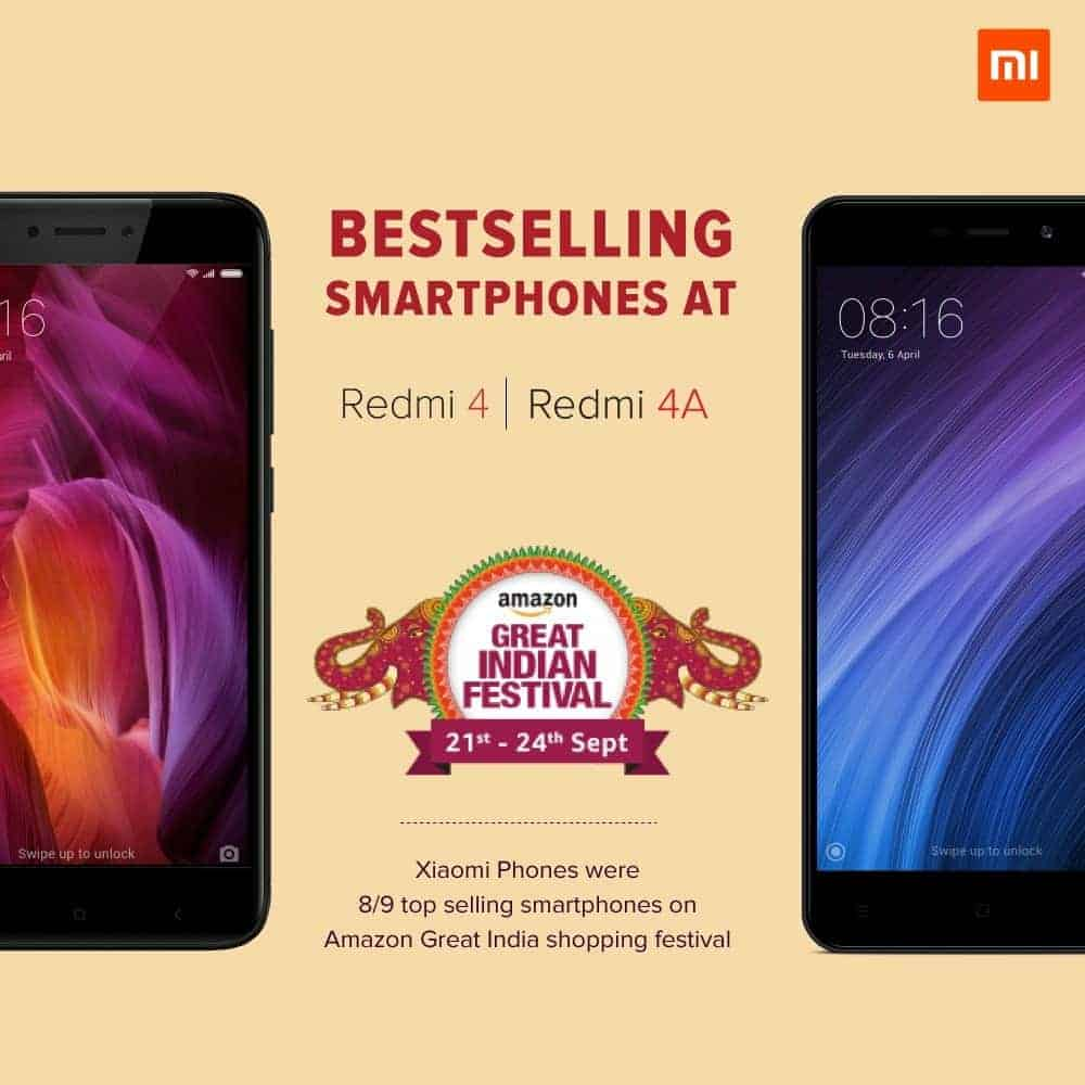 Xiaomi Sold Over 1 Million Smartphones In India 48 Hours New Note 4 3 64gb Buy The Redmi