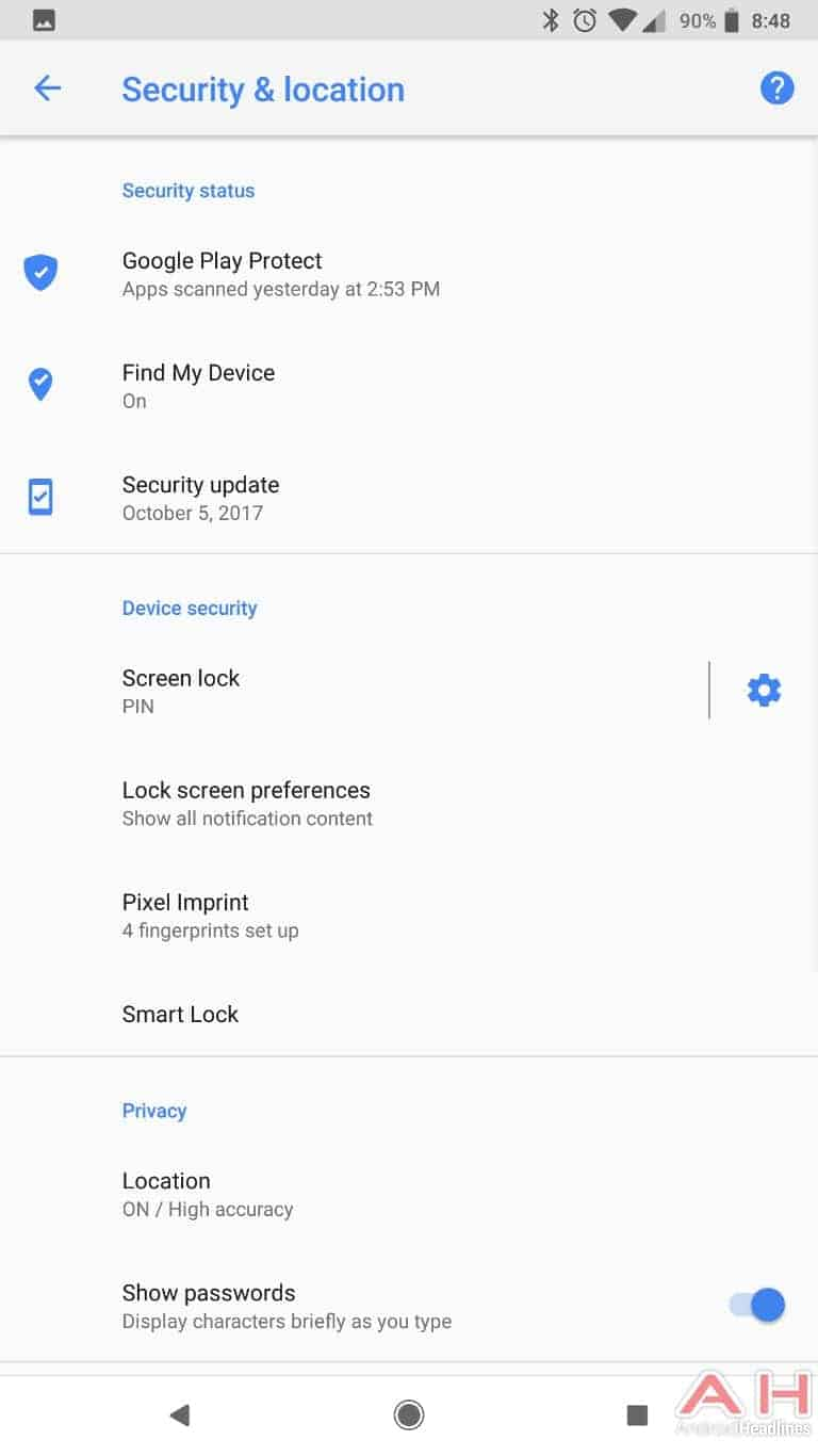 AH Android 8.1 Oreo UI screenshots 21