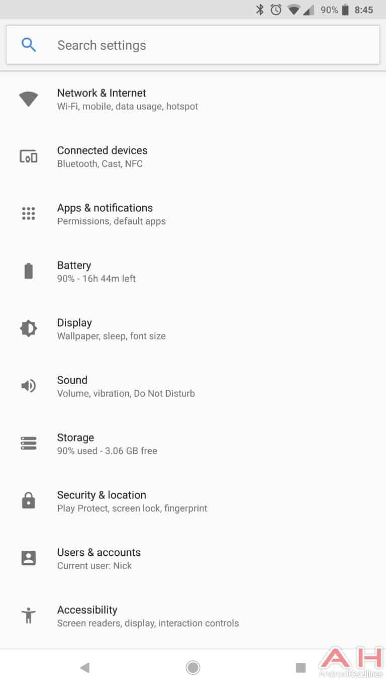 AH Android 8.1 Oreo UI screenshots 4