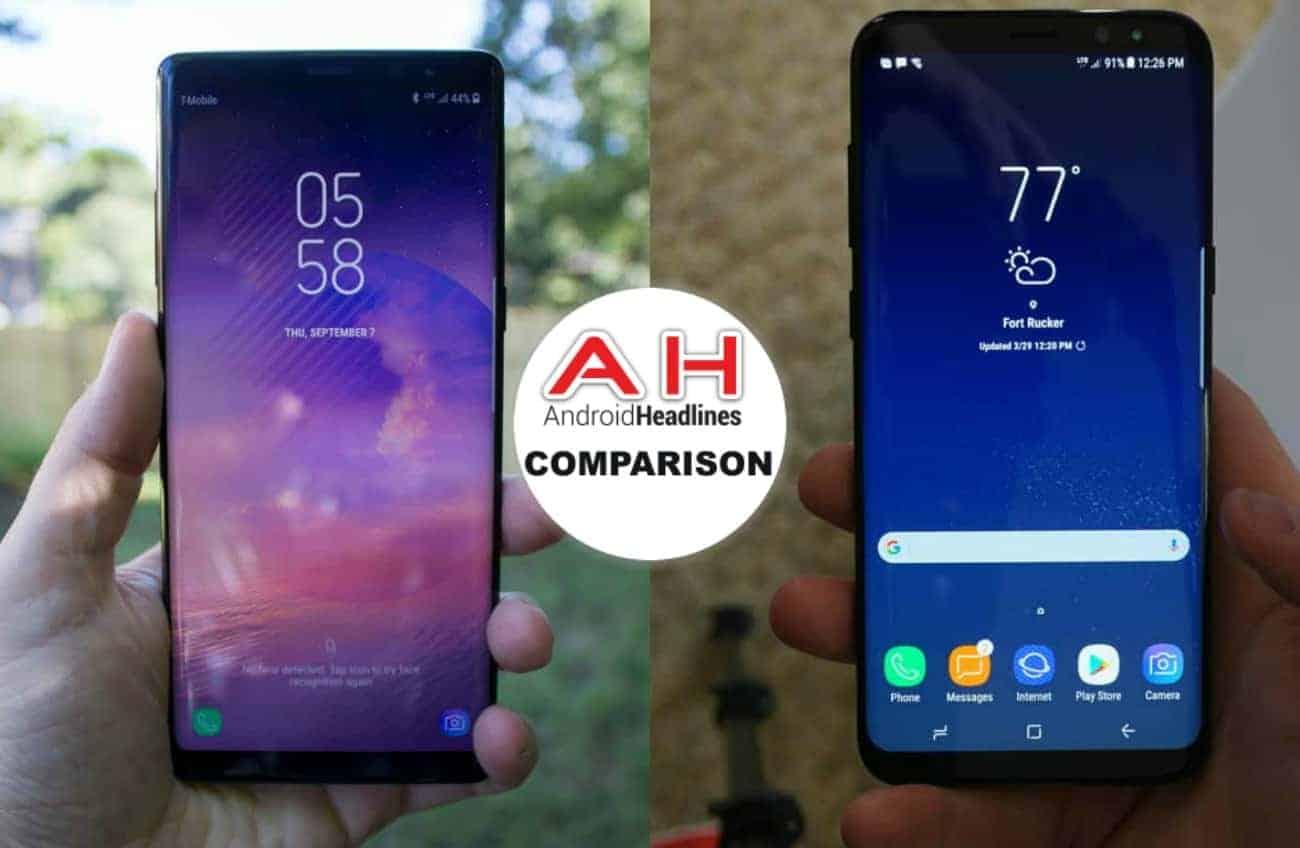 Phone Comparisons Samsung Galaxy Note 8 Vs S8 Plus