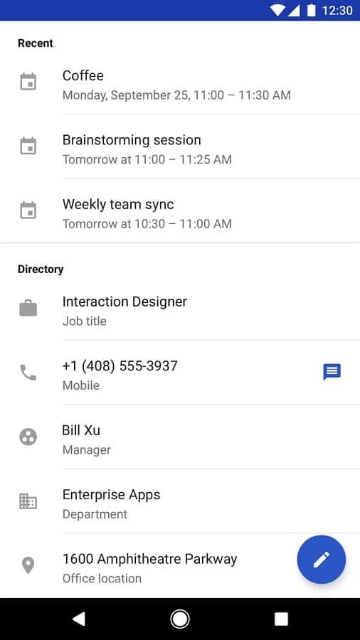 Google Contacts 2.2 Official Screenshot 02