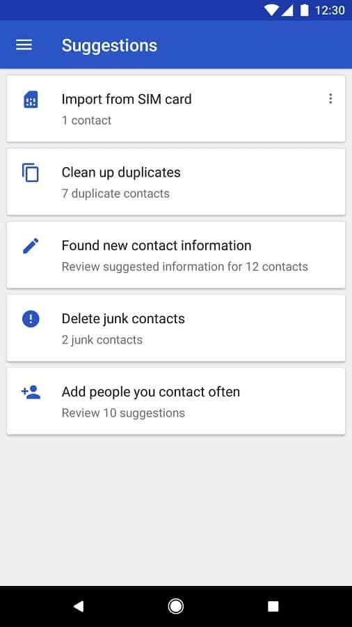 Google Contacts 2.2 Official Screenshot 03