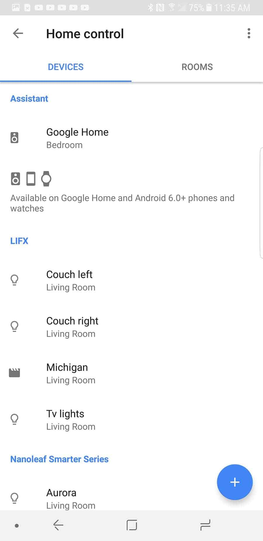 Google Home Assign Room 1