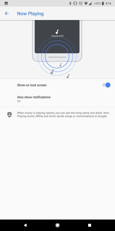 Google Pixel 2 AH NS Screenshots now playing