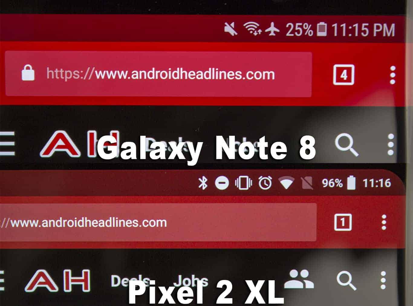 Google Pixel 2 XL Display Compare 2