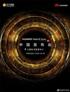 Confirmed: Huawei Mate 10 Family Coming To China On Oct. 20
