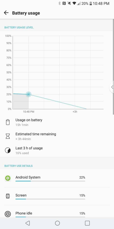 LG V30 AH NS Screenshots battery 1