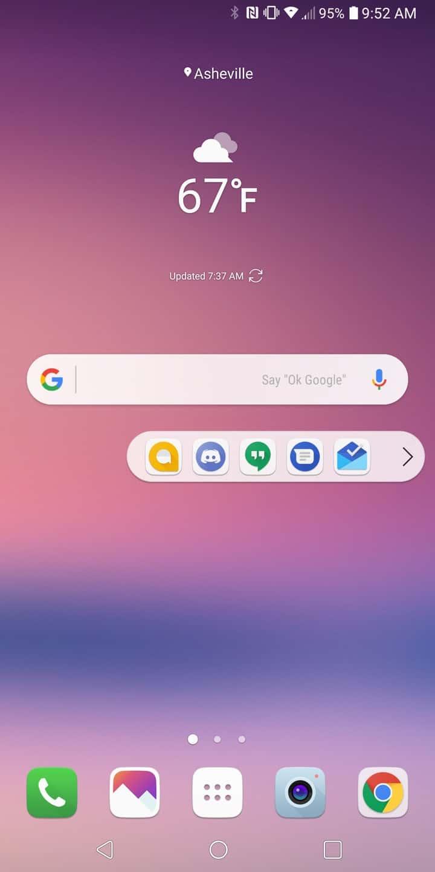 LG V30 AH NS Screenshots floating bar 1