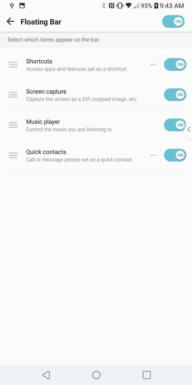 LG V30 AH NS Screenshots floating bar 2