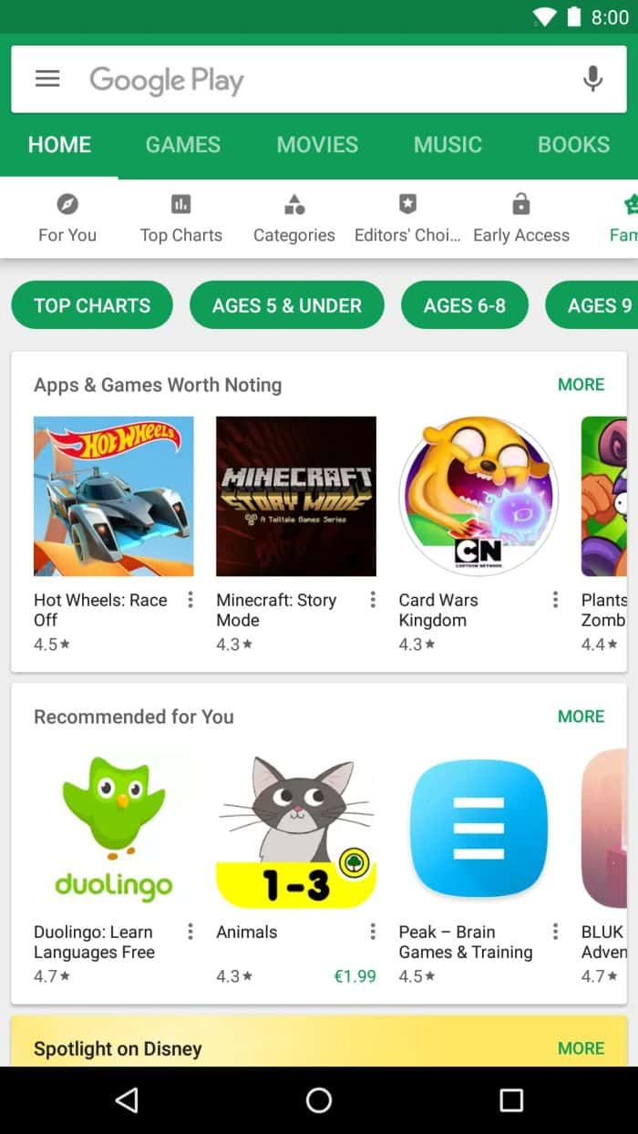 Play Store Nested Tabs 5