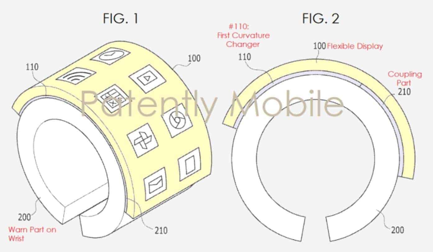 Samsung Flexible Bracelet Patently Mobile 1
