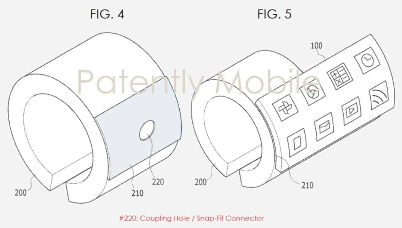 Samsung Flexible Bracelet Patently Mobile 3