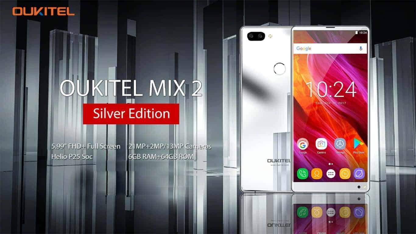 Silver Edition OUKITEL Mix 2 1