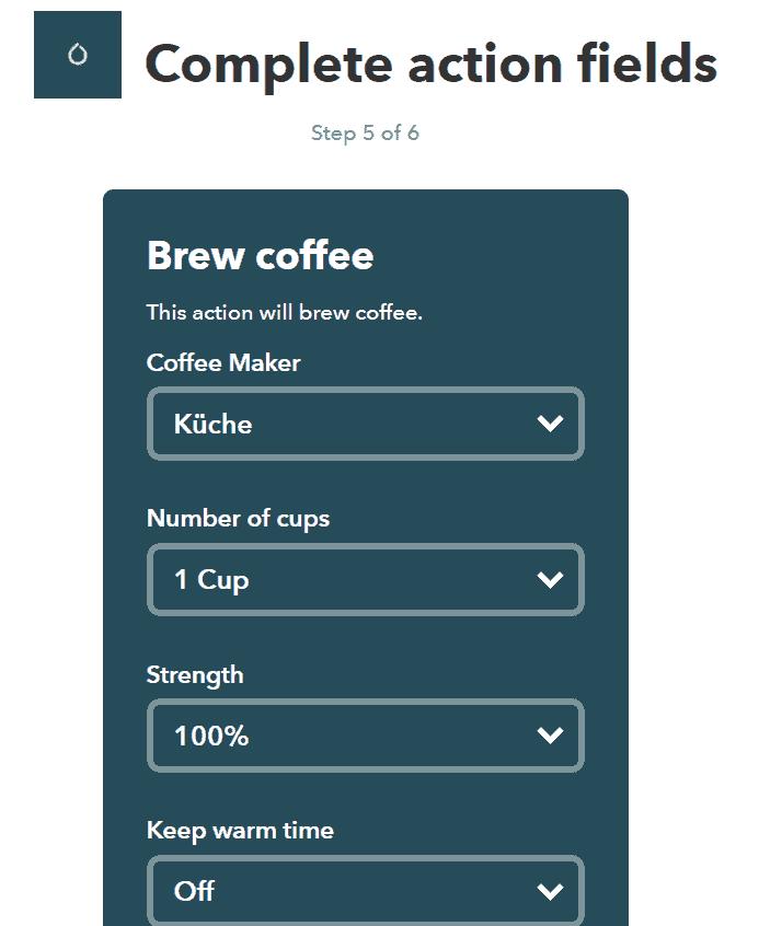 Smarter Coffee AH NS app screenshots IFTTT 2