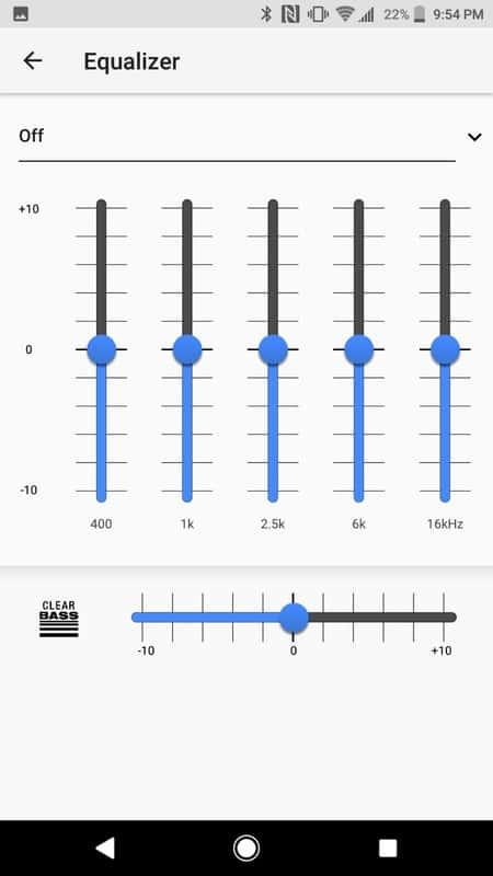 Sony Xperia XZ1 AH NS Screenshots audio EQ