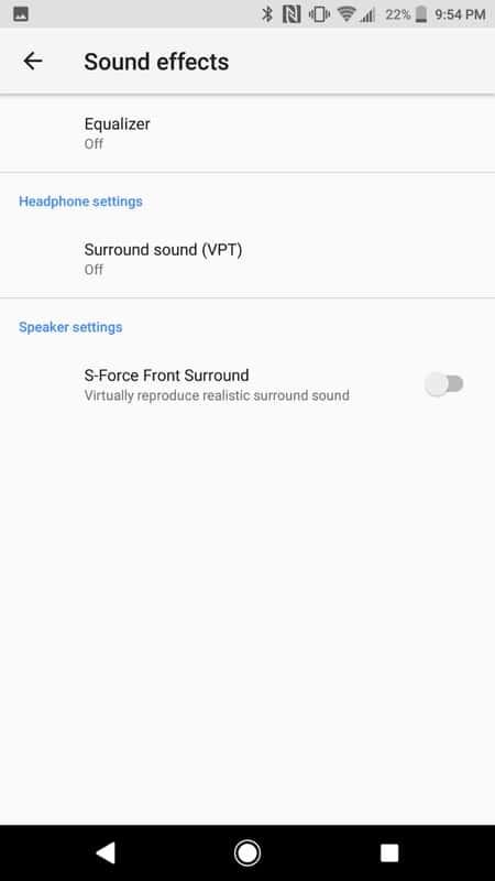 Sony Xperia XZ1 AH NS Screenshots audio sound effects 1