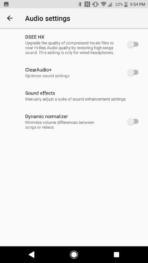 Sony Xperia XZ1 AH NS Screenshots audio sound effects 2