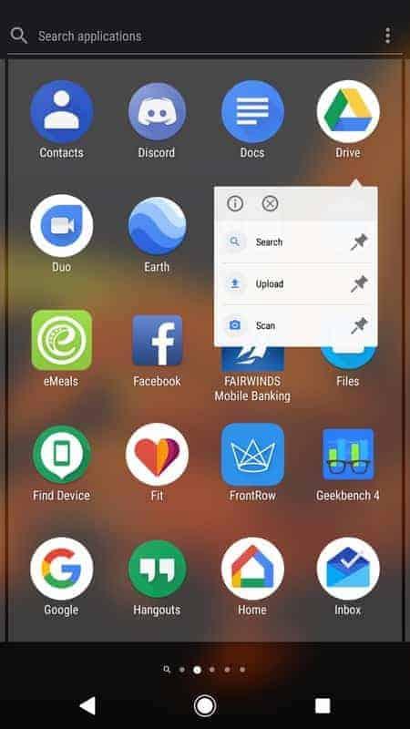 Sony Xperia XZ1 AH NS Screenshots launcher 3
