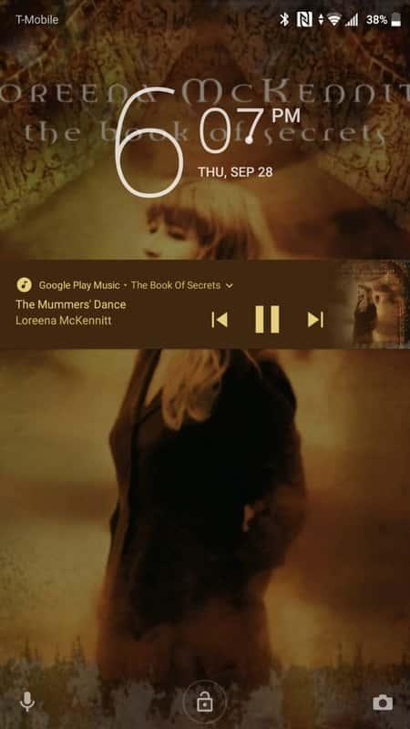 Sony Xperia XZ1 AH NS Screenshots lockscreen