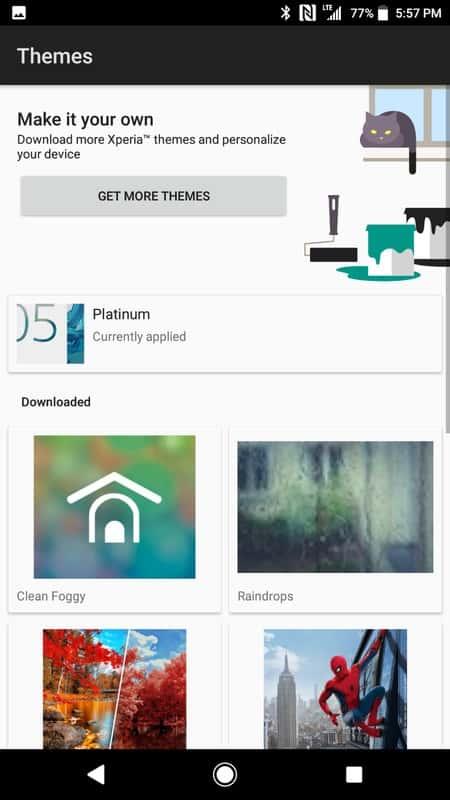 Sony Xperia XZ1 AH NS Screenshots themes