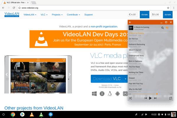 VLC ChromeOS 1