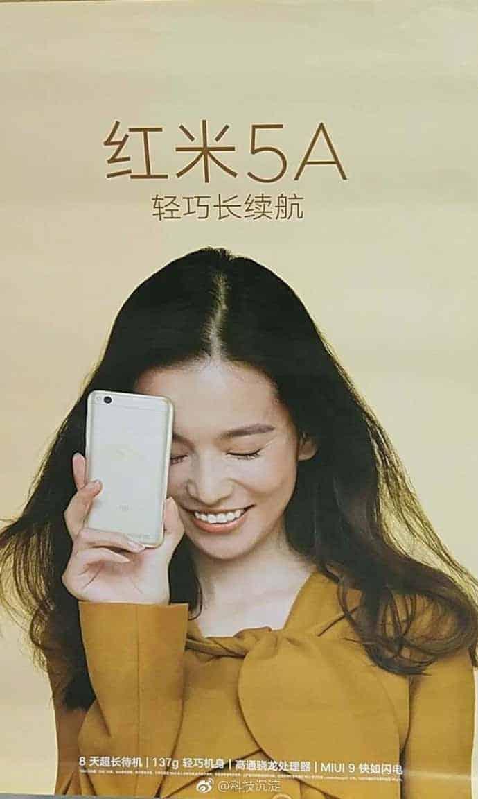 Xiaomi Redmi 5A poster leak 1