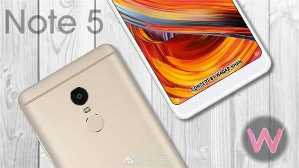 Xiaomi Redmi Note 5 leak 32