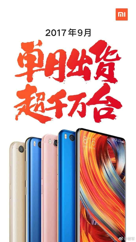 Xiaomi September 2017 sales 1