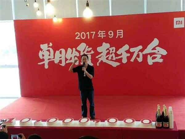 Xiaomi September 2017 sales 2