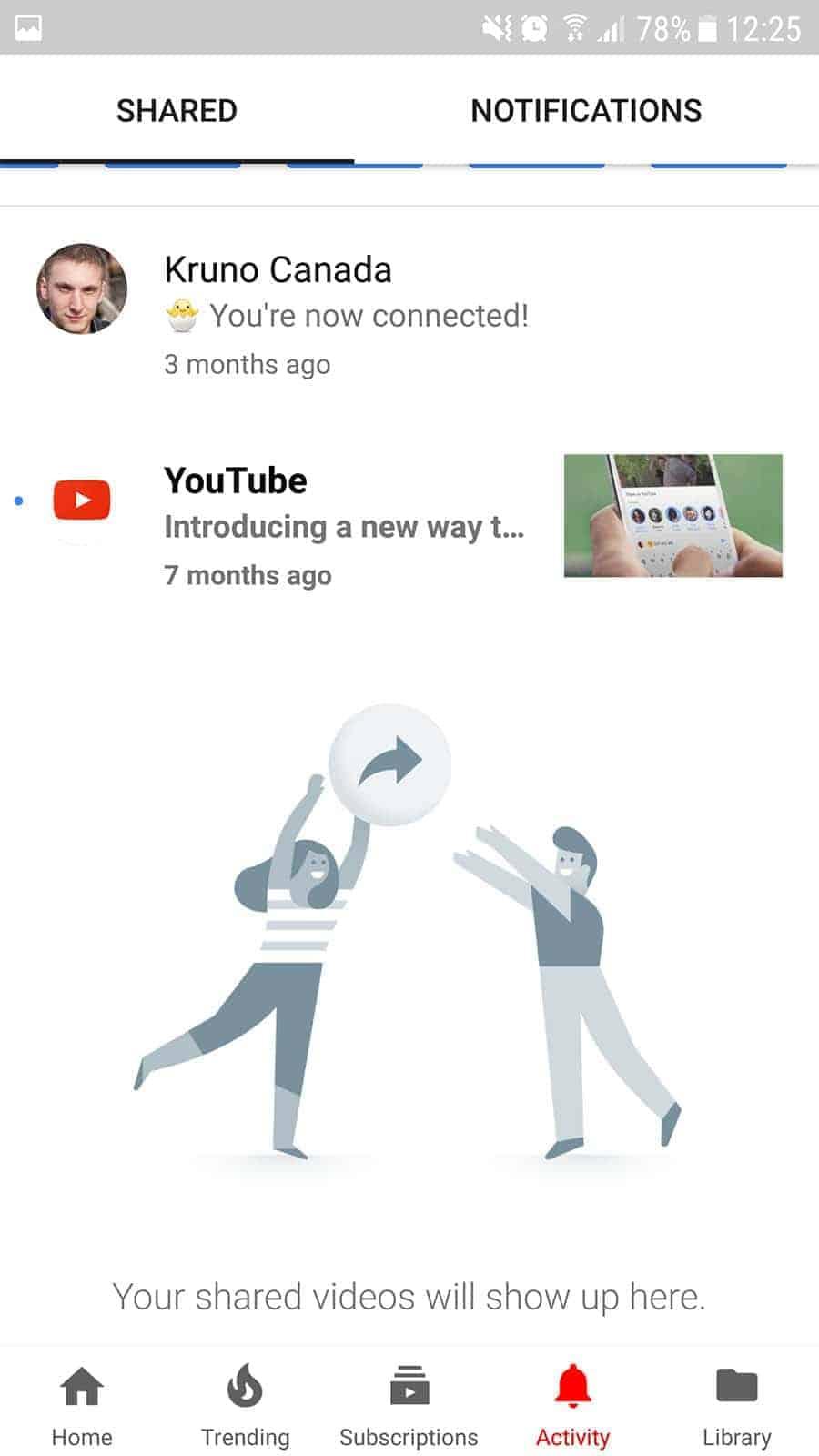 YouTube Android App Activity Tab AH 0