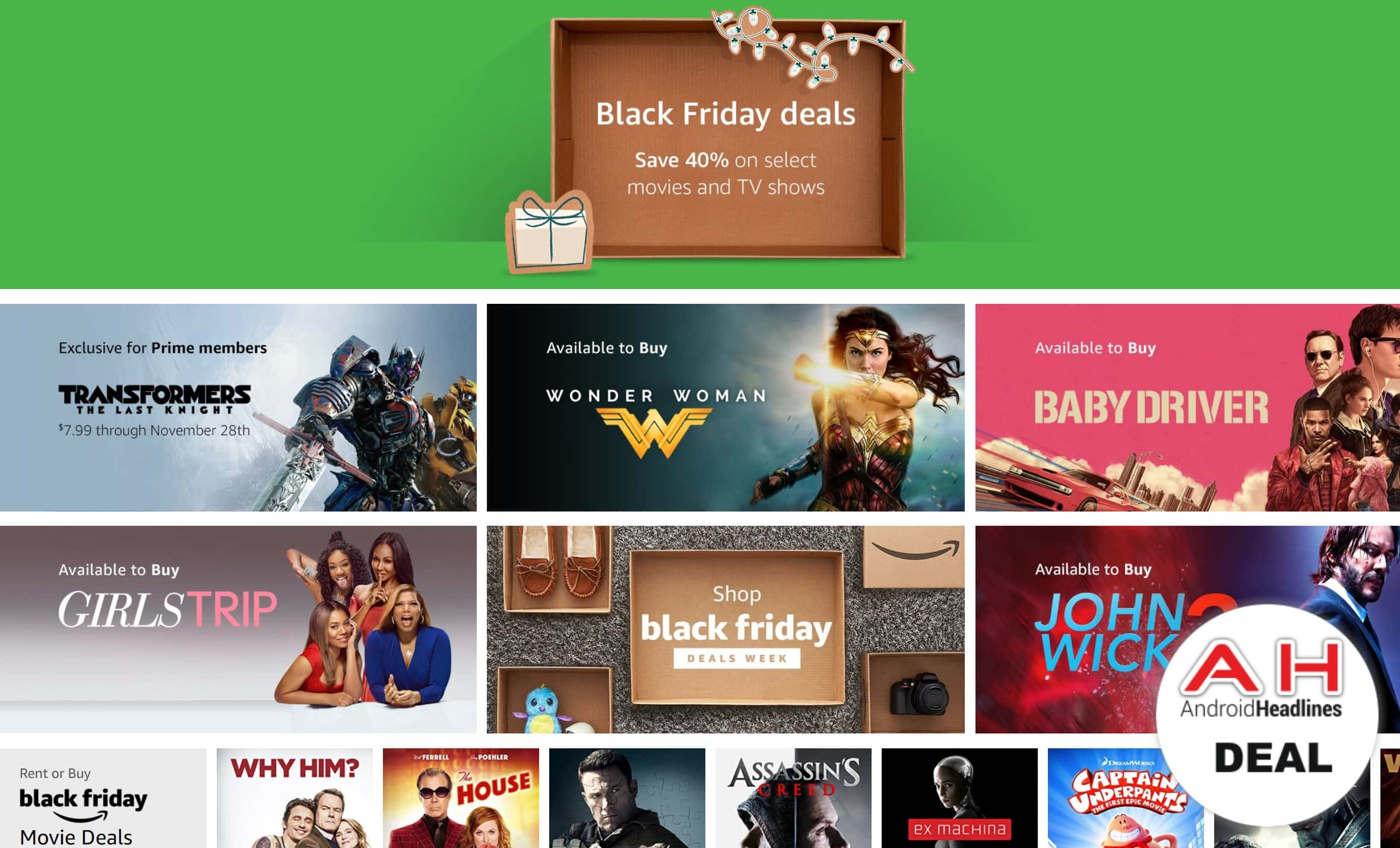 Deal Save Up To 40 On Movies Tv Shows For Black Friday 11 24 17