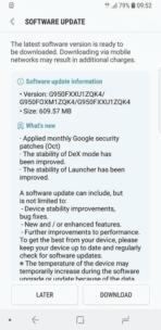 Galaxy S8 Android Oreo Beta Update 2 1
