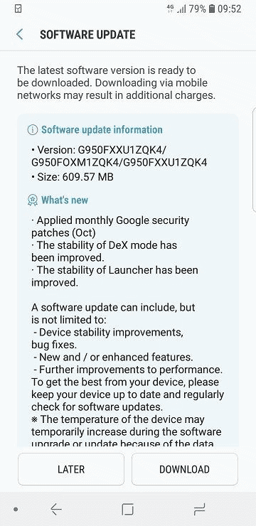 Galaxy S8 Android Oreo Beta Update 2 1