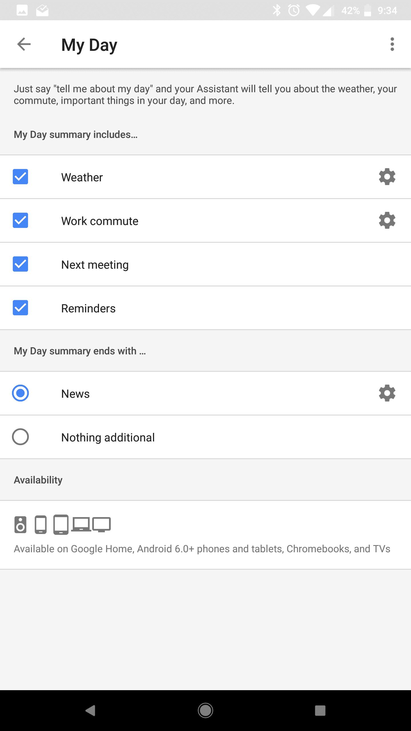 Google Home Mini AH NS Screenshots my day