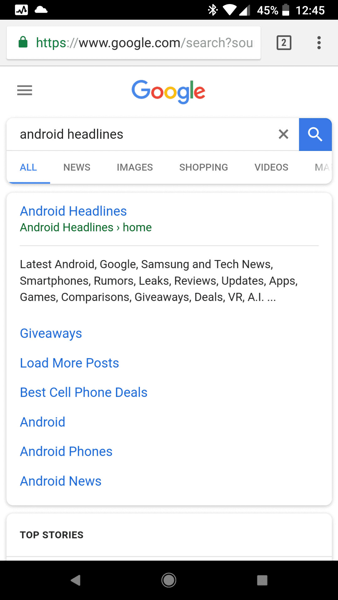 Google Search Mobile Rounded Corners 3