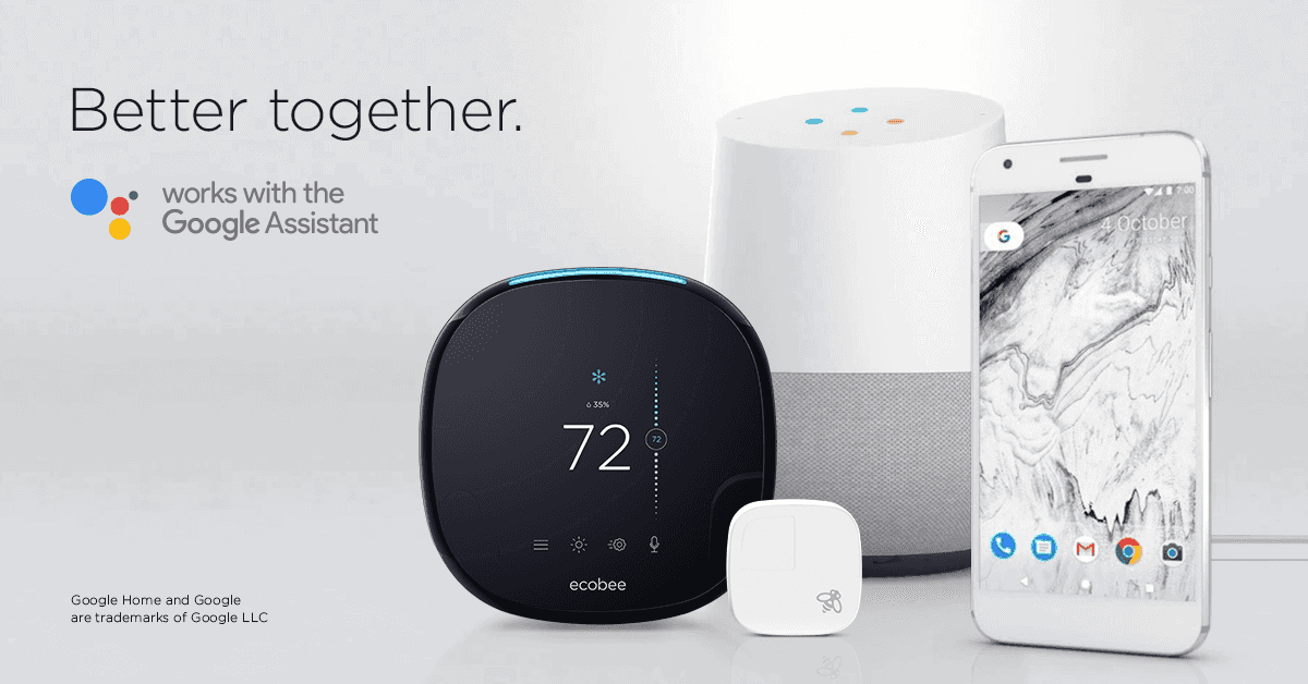 google assistant support comes to ecobee smart home products. Black Bedroom Furniture Sets. Home Design Ideas