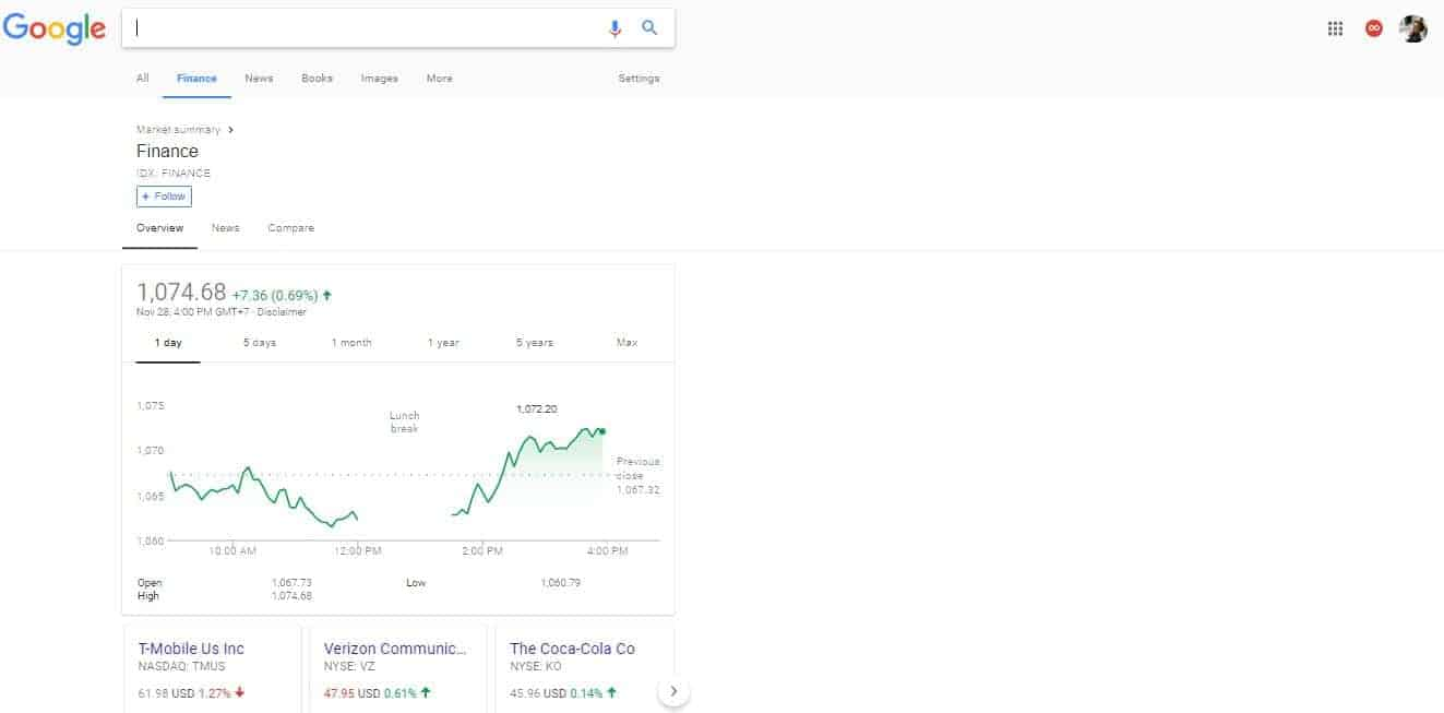 google search now features an all in one finance tab  the new tab is being rolled out in stages and take a while to reach you