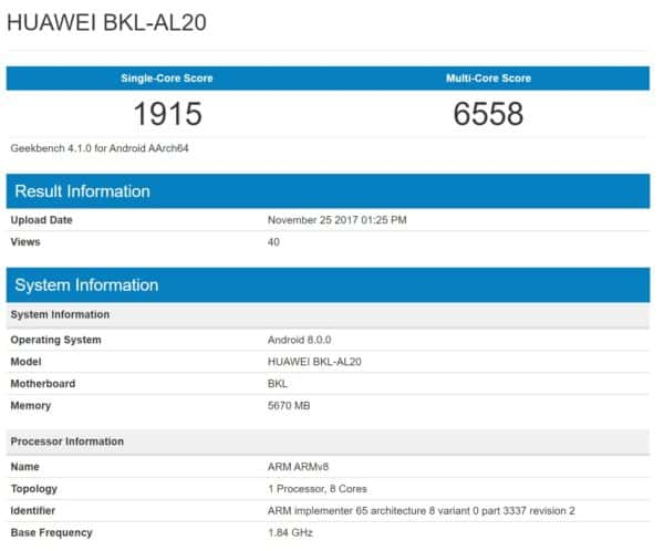 Honor V10 Benchmarked With 6GB Of RAM, Android 8.0 Oreo ...