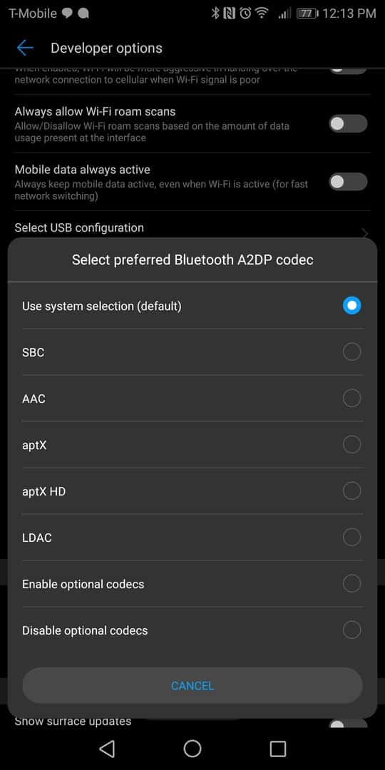 Huawei Mate 10 Pro AH NS screenshots audio bluetooth 1