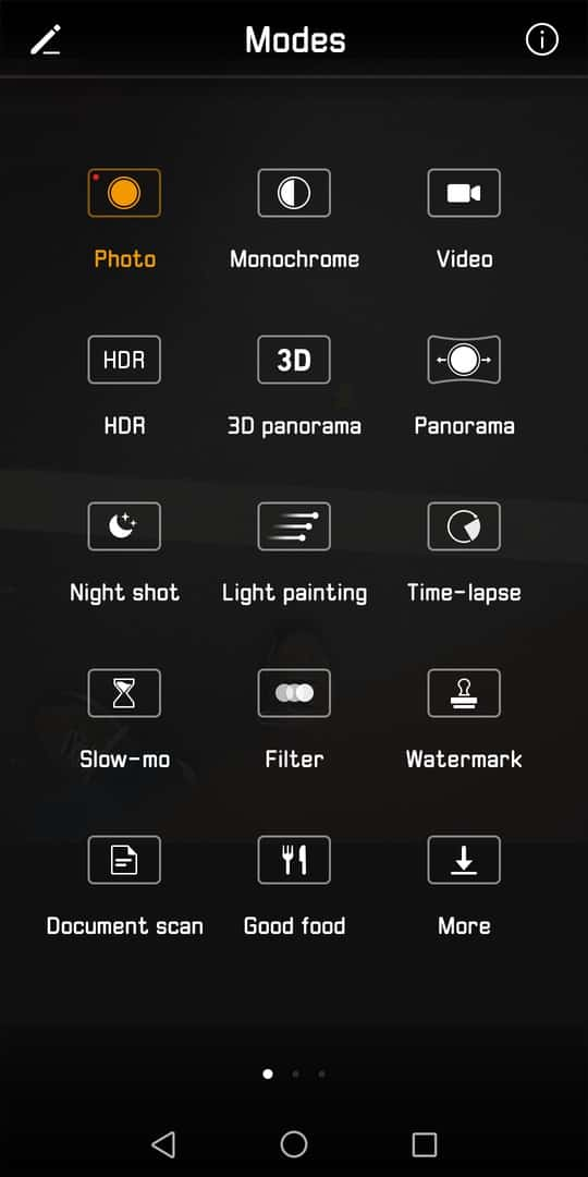 Huawei Mate 10 Pro AH NS screenshots camera modes