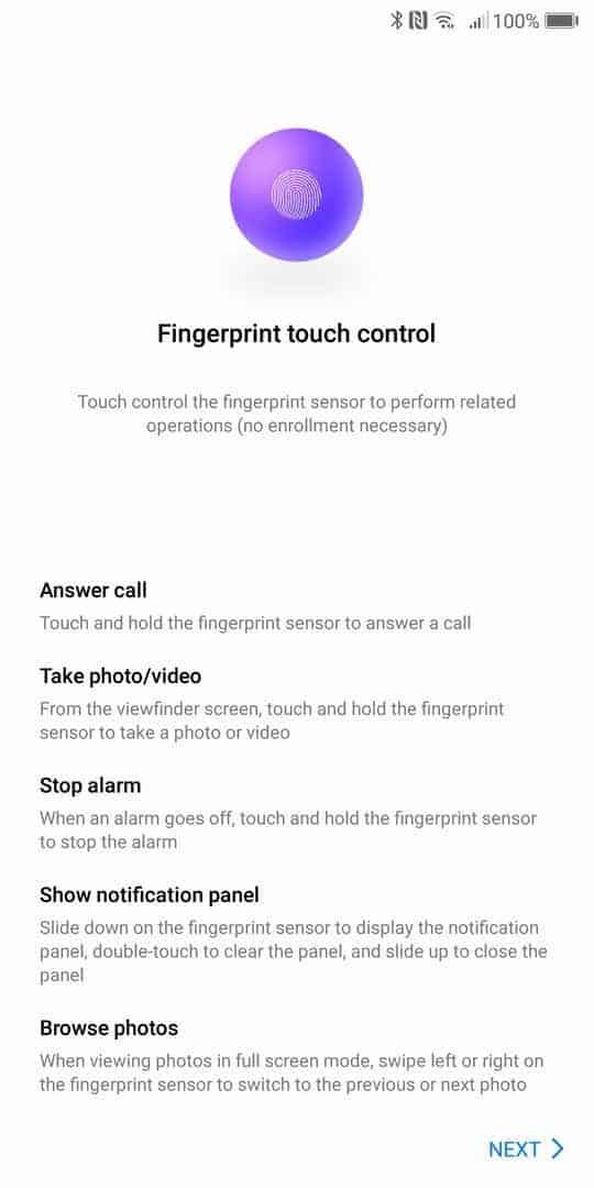 Huawei Mate 10 Pro AH NS screenshots fingerprint gestures