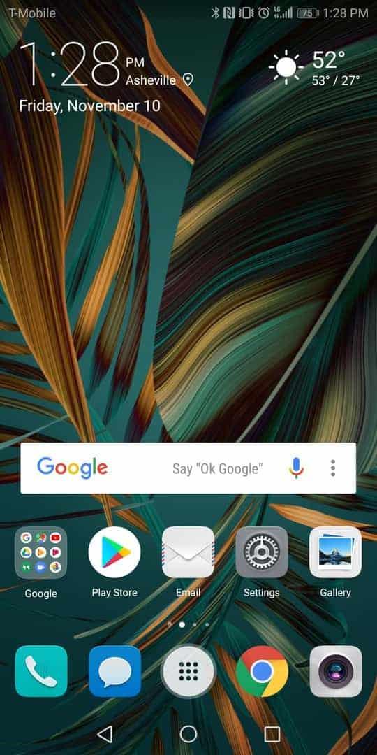 Huawei Mate 10 Pro AH NS screenshots homescreen emui
