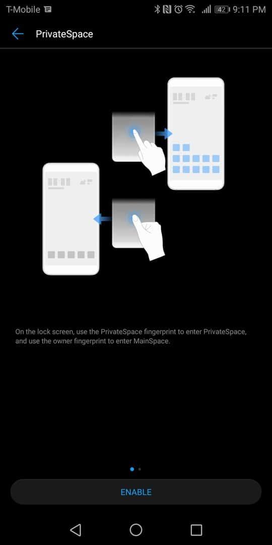 Huawei Mate 10 Pro AH NS screenshots private spacec