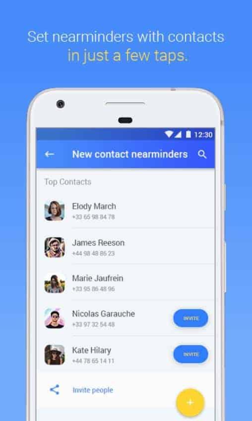 NearMinder Contacts Places Reminders Google Play Screenshot 04