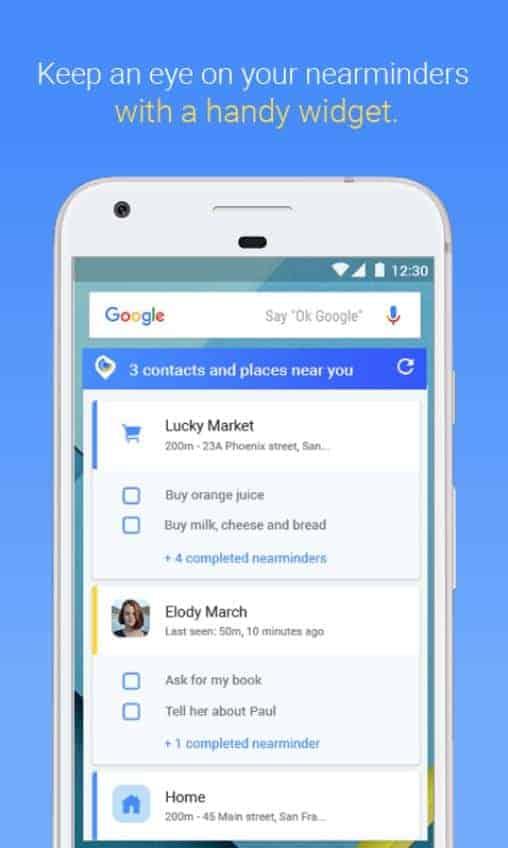 NearMinder Contacts Places Reminders Google Play Screenshot 07