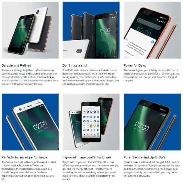 Nokia 2 Amazon 3