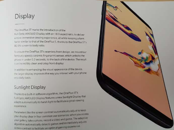 OnePlus 5T Specs Concept Leaks 1