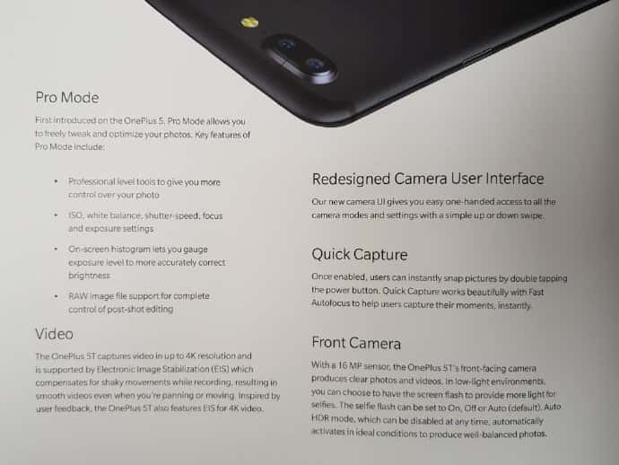 OnePlus 5T Specs Concept Leaks 2